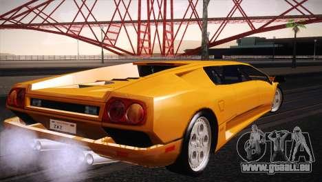 Lamborghini Diablo Stretch pour GTA San Andreas laissé vue
