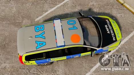 Volvo V70 ANPR Interceptor [ELS] pour GTA 4 est un droit