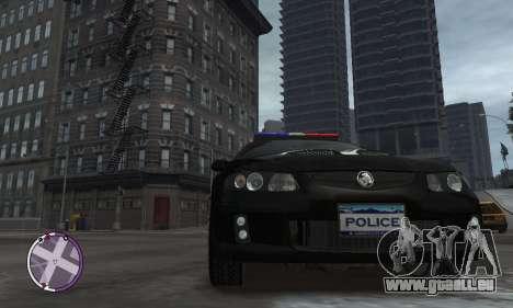 Holden Monaro CV8-R Police pour GTA 4 Vue arrière