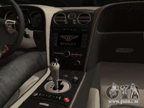 Bentley Continental Supersports für GTA San Andreas Rückansicht