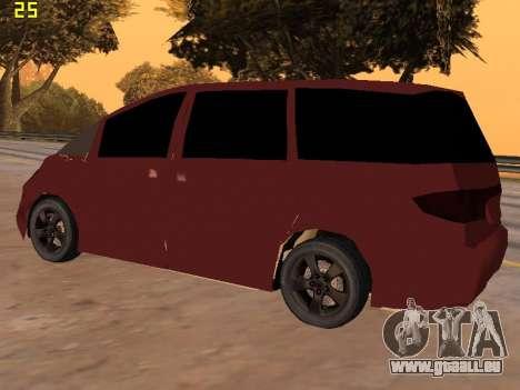 Toyota Estima 2wd für GTA San Andreas rechten Ansicht