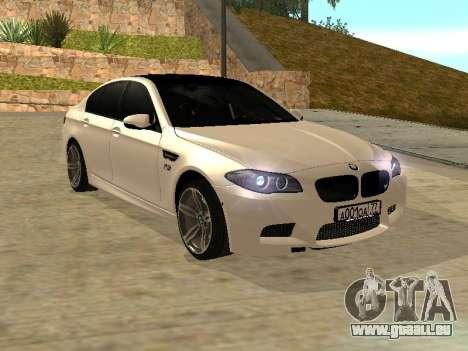 BMW M5 F10 V2.0 pour GTA San Andreas vue de droite