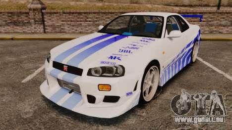 Nissan Skyline GT-R R34 V-Spec 1999 pour GTA 4