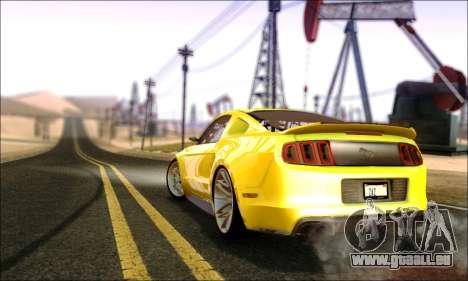Ford Mustang GT 2013 v2 pour GTA San Andreas sur la vue arrière gauche