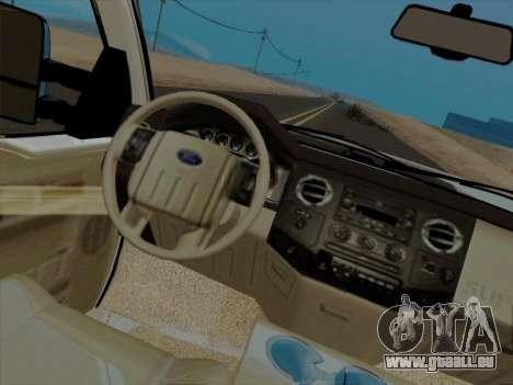 Ford F450 Super Duty 2013 pour GTA San Andreas vue arrière