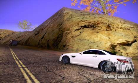 Mercedes Benz SLK55 AMG 2011 pour GTA San Andreas salon