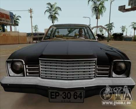 Dodge Aspen pour GTA San Andreas sur la vue arrière gauche