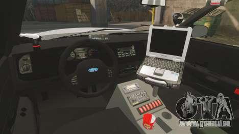 Ford Crown Victoria Traffic Enforcement [ELS] für GTA 4 Innenansicht