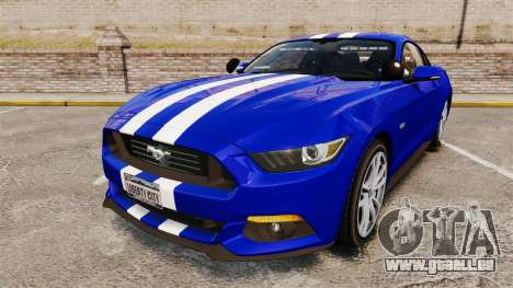 Ford Mustang GT 2015 Unmarked Police [ELS] für GTA 4