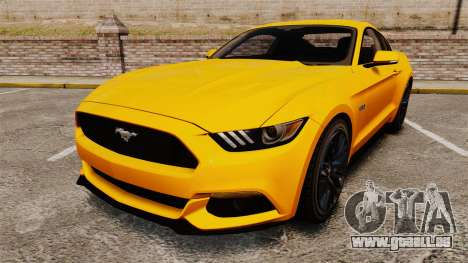 Ford Mustang GT 2015 v2.0 pour GTA 4