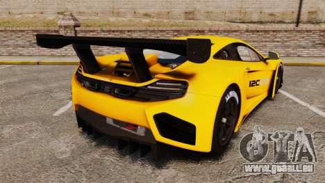 McLaren MP4-12C GT3 (Updated) pour GTA 4 Vue arrière de la gauche