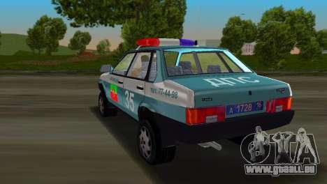 VAZ 21099 Miliz für GTA Vice City linke Ansicht