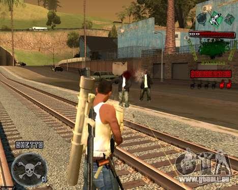 C-HUD Grove St pour GTA San Andreas troisième écran