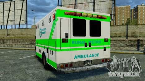 Brute Rural Metro EMS [ELS] pour GTA 4 Vue arrière de la gauche