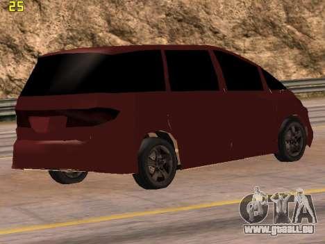 Toyota Estima 2wd pour GTA San Andreas laissé vue