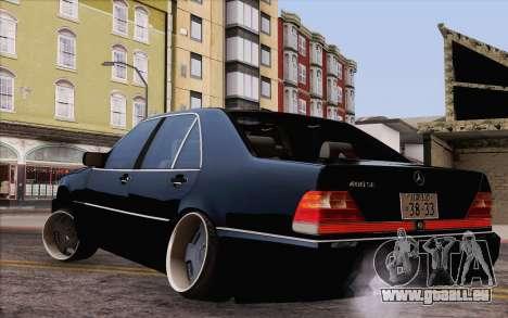 Mercedes-Benz S500 w140 pour GTA San Andreas laissé vue