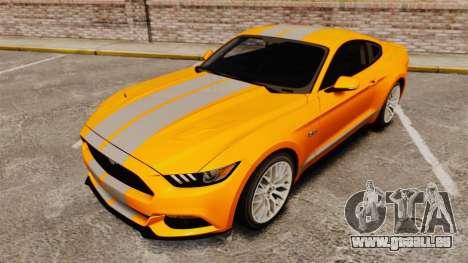 Ford Mustang GT 2015 v2.0 pour GTA 4 est un côté