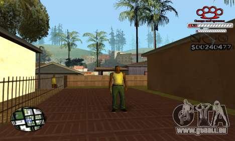 C-HUD Gangster by NickQuest pour GTA San Andreas quatrième écran