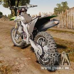 Kawasaki KX250F Monster Energy für GTA 4 hinten links Ansicht