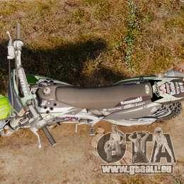 Kawasaki KX250F Monster Energy pour GTA 4 est un droit