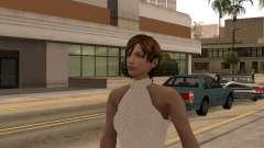 Mädchen im weißen Kleid