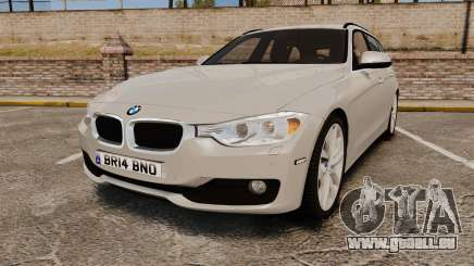 BMW 330d Touring (F31) 2014 Unmarked Police ELS pour GTA 4