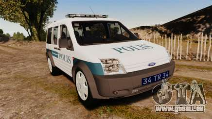 Ford Transit Connect Turkish Police [ELS] v2.0 für GTA 4