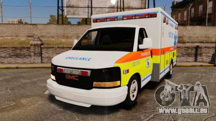 GMC Savana 2005 Ambulance [ELS] für GTA 4