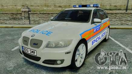 BMW 330i Touring Metropolitan Police [ELS] pour GTA 4