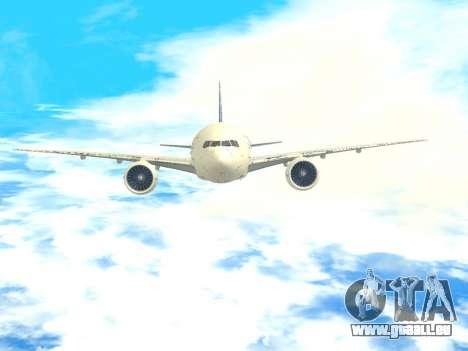 Boeing 777 LAN Cargo für GTA San Andreas obere Ansicht