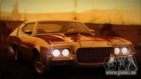Ford Gran Torino De 1972 pour GTA San Andreas vue intérieure