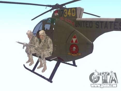 OH-6 Cayuse pour GTA San Andreas sur la vue arrière gauche