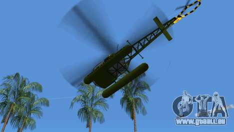 Bell 13H Sioux pour GTA Vice City vue arrière