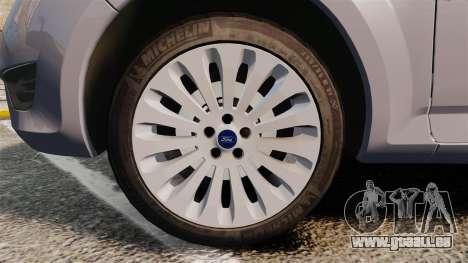 Ford Mondeo Hungarian Police [ELS] pour GTA 4 Vue arrière