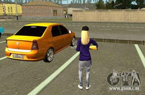 Avril Lavigne Skin für GTA San Andreas dritten Screenshot