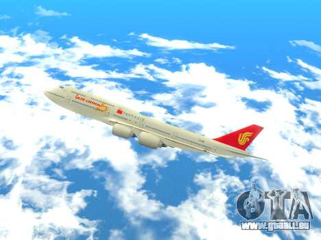 Boeing 747 Air China für GTA San Andreas linke Ansicht