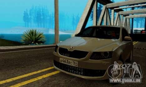 Skoda Octavia A7 pour GTA San Andreas vue intérieure