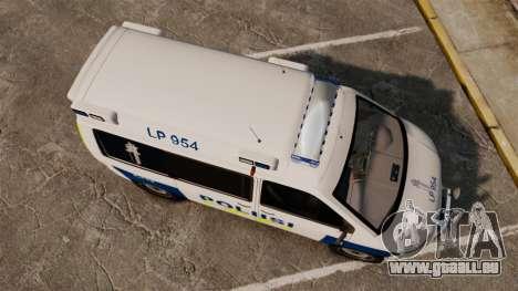 Volkswagen Transporter T5 TDI POLIISI [ELS] für GTA 4 rechte Ansicht