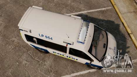 Volkswagen Transporter T5 TDI POLIISI [ELS] pour GTA 4 est un droit
