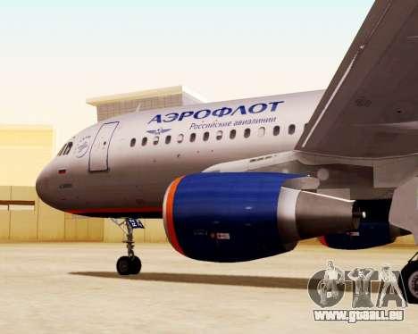 Airbus A320-200 Aeroflot für GTA San Andreas rechten Ansicht