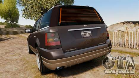Dundreary Landstalker new wheels für GTA 4 hinten links Ansicht