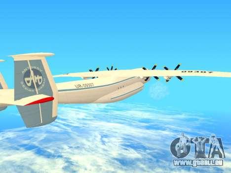 Une-22 Antei pour GTA San Andreas vue de dessus
