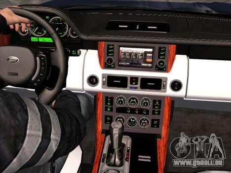 Land Rover Supercharged Stock 2010 V2.0 für GTA San Andreas Innenansicht