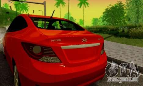Hyndai Solaris pour GTA San Andreas vue intérieure