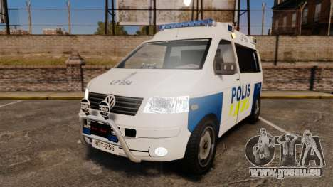 Volkswagen Transporter T5 TDI POLIISI [ELS] pour GTA 4