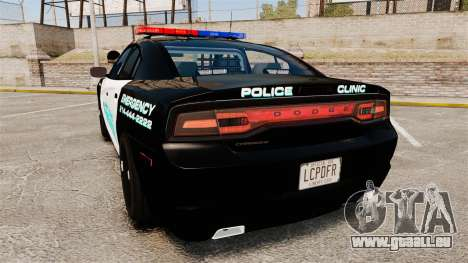 Dodge Charger 2011 Liberty Clinic Police [ELS] für GTA 4 hinten links Ansicht