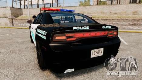 Dodge Charger 2011 Liberty Clinic Police [ELS] für GTA 4 hinten links Ansicht