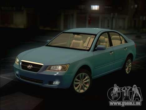 Hyundai Sonata 2009 pour GTA San Andreas sur la vue arrière gauche