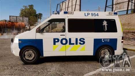 Volkswagen Transporter T5 TDI POLIISI [ELS] pour GTA 4 est une gauche