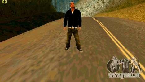 Die neue textur Claude für GTA San Andreas